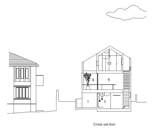 Elevation Plan And Cross Section : House within a what we do is secret