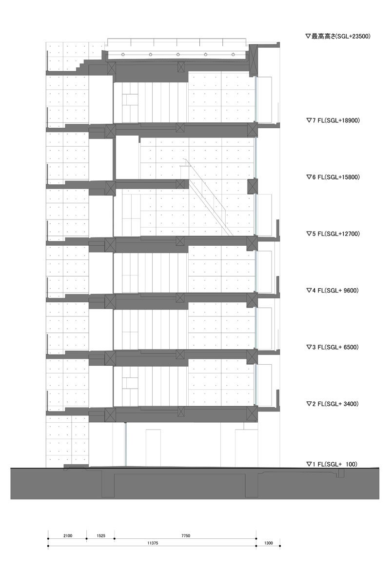 Apartment in katayama elevation section and floor plans what we do is secret