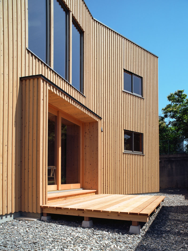House in atagoyama exterior what we do is secret for Wooden house exterior design